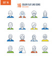 people and their avatars images of profession vector image vector image