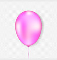 pink balloon realistic style vector image vector image