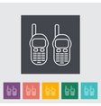 Portable radio vector image vector image