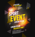 poster design for sport event running tournament vector image vector image