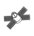 satellite spaceship technology vector image