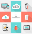 set 08 - flat design computer icons vector image vector image
