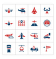 Set color icons of aviation vector image vector image