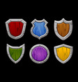 set multi-colored stone shields various vector image