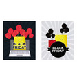 set of black friday labels icon vector image
