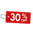 special offer 30 off label or price tag vector image