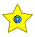 star shape videogame bar icon vector image