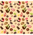 Sweets seamless background vector image vector image