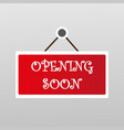 symbol open soon modern element arrival release vector image