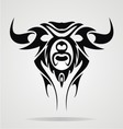 Taurus Tattoo Design vector image vector image