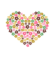 the heart from flowers vector image