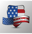 the shield with ribbon vector image vector image