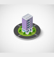 urban buildings and construction vector image vector image