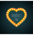 Valentines day heart with light bulbs vector image vector image