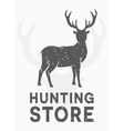 vintage logo hunting and shooting store vector image