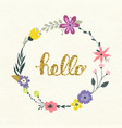 wreath with pastel flowers vector image vector image