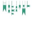 green flag vector image