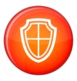 Shield icon flat style vector image