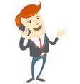Office man phone talking vector image