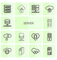 14 server icons vector image vector image