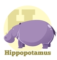 ABC Cartoon Hippopotamus4 vector image vector image