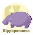 abc cartoon hippopotamus4 vector image