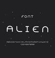 alien regular font alphabet vector image