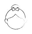 avatar girl icon vector image