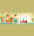 background of empty supermarket shop vector image