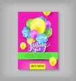 banner spring sale discount flower balloon vector image vector image