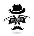 Barbershop hipster logo vector image vector image