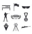 Biathlon icons set Flat style design Target ski vector image vector image