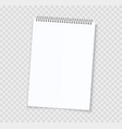 blank notebook sheets realistic notepad with vector image