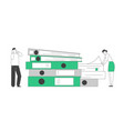 busy office people company employees paperwork vector image vector image