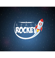 Cartoon Rocket vector image vector image