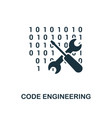code engineering icon monochrome style design vector image vector image