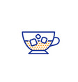 coffee with ice icon cold drink sign vector image