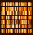 collection metallic bronze and golden gradient vector image vector image