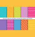 collection striped seamless patterns vector image