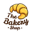 croissant bakery shop icon logo vector image