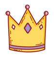 cute queen crown with heart vector image