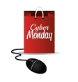 Cyber monday mouse bag design vector image