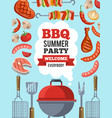 design template of invitation for bbq party vector image vector image
