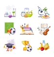 Different School Classes And Activities Related vector image vector image
