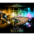 Disco Flyer - Stunning Speakers with a pointing vector image vector image