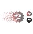dispersed pixel halftone indifferent smiley gear vector image vector image
