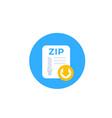 download zip file icon vector image