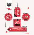 end of year sale savings labels set vector image vector image