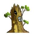 fairytale house fantasy tree house housing vector image