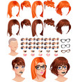 Fashion female avatars vector image vector image